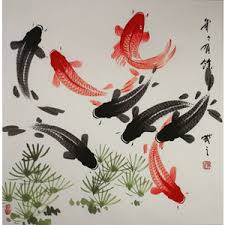 Large Koi Fish Painting