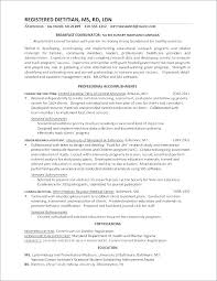 Sample Dietitian Resume Example Registered Examples