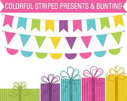 Birthday Clipart Presents Bunting