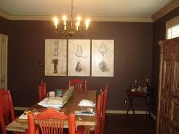 Decorating Dining Room Accent Wall Ideas Glamorous Red