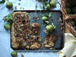 Rustic Pear Tart With Local Honey Blue Cheese Walnuts And A Whole Wheat Or