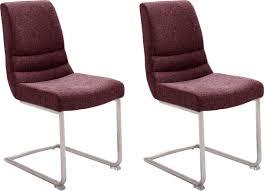 mca furniture freischwinger montera 2er set stuhl belastbar bis 140 kg