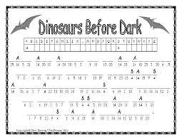 Magic Tree House Dinosaurs Before Dark Worksheets