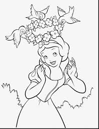 Fantastic Snow White Coloring Pages Printable With Page And
