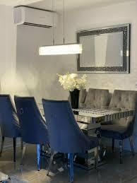 esszimmer glas tisch barock stühle esstisch spiegel chesterfield