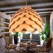 oak wood pinecone king l living room dining room lighting