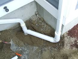 connecting a gutter downspout to foundation drain home