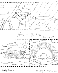 Noah Coloring Page And The Ark Pages Of Animals