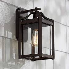 modern 12 1 2 inch h franklin iron works outdoor wall light