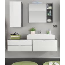 badkombination in hochglanz weiß und grau badmöbel set 2 teilig 140 x 193 cm ohne waschbecken