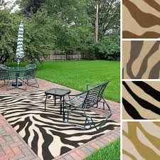 Polypropylene Patio Mat 9 X 12 by Hand Hooked Adele Zebra Indoor Outdoor Polypropylene Rug 9 U0027 X 12