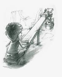 Seesaw Pencil Decorative Painting Sketchy Sketch PNG Image And Clipart