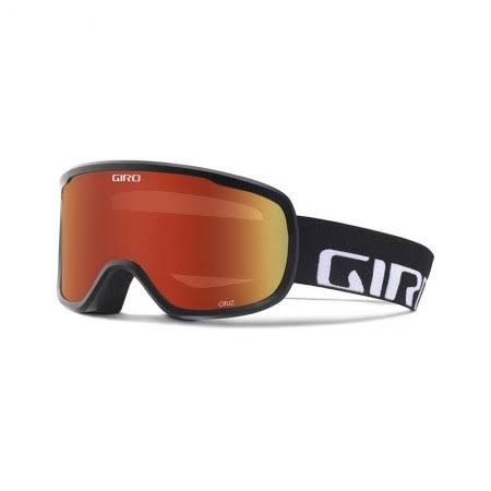 Giro Sports Glasses Cruz Unisex Ski Goggles - Black and Amber Scarlet