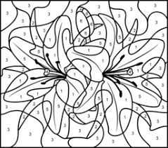 Really Hard Color By Number Coloring Pages Bros