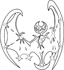 Pokemon Coloring Pages Lunala From The Thousand Pictures On The
