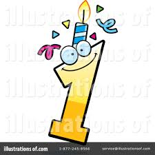 Royalty Free RF Birthday Candle Clipart Illustration by Cory Thoman Stock Sample