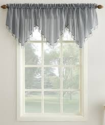 Blue Crushed Voile Curtains by Erica Crushed Voile Rod Pocket Ascot Valance Curtain Curtain
