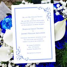 Printable Wedding Invitation Template Elegance Royal Blue