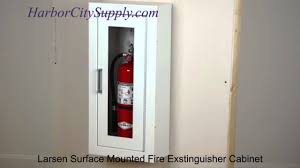 Recessed Fire Extinguisher Cabinet Detail by Larsen Architectural Series Surface Mounted Fire Extinguisher