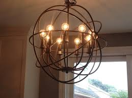 unique rustic circular kitchen chandelier with 8 bulb lights