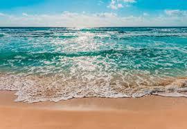 komar fototapete seaside glatt bedruckt meer strand set ausgezeichnet lichtbeständig