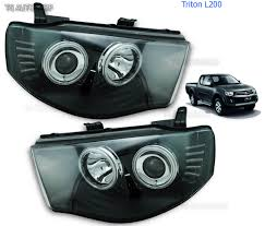 Mitsubishi Projector Lamp Replacement Instructions by Led Black Head Lamp Lights Projector Fit Mitsubishi L200 Triton