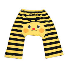 yellow striped bumble bee cotton baby leggings dotty fish