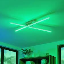 lindby lansson deckenleuchte led wohnzimmer kristalleffekt rgb fernbedienung