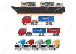 100 Truck And Transportation Boat Container Logistic Concept