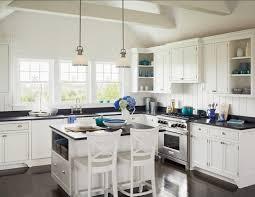 Kitchen Coastal Design With Blue And White