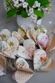 Wedding Favors Paper Baubles Peony And Roses Decor Name Tags Rustic Romantic FREE Personalization