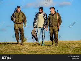 100 Gamekeepers Group Men Hunters Image Photo Free Trial Bigstock