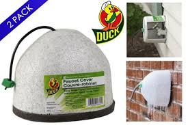 Outside Faucet Cover Freezing Weather by Duck Brand Outdoor Faucet Covers 2 Pack Yugster