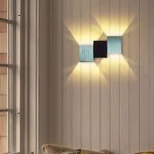 einfache würfel deckenleuchte moderne leiterförmige wandleuchte led wandle für wohnzimmer kaffeetreppen warmweiß 6w