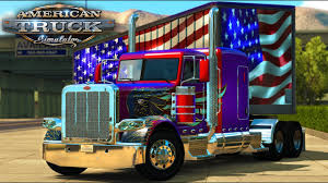 100 Truck Flag American Simulator American Wings 389 USA Box Trailer