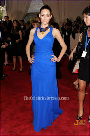 Evening Dresses Red Carpet by Emmy Rossum Royal Blue Evening Dress 2010 Met Ball Red Carpet
