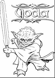 Fabulous Star Wars Yoda Coloring Pages With