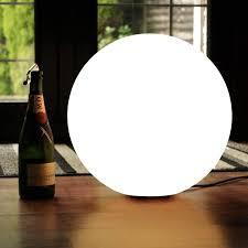 led stehle kugel modern wohnzimmer 40cm mit glühbirne