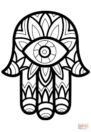 Click The Hamsa Hand Of Fatima Coloring Pages To View Printable Version Or Color It Online Compatible With IPad And Android Tablets