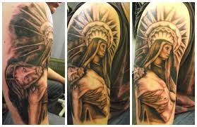 Ideas For Men Az Designs Best Religious Half Sleeve Tattoos S Tattoo