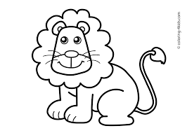 Stunning Printable Coloring Pages For Kids Animals Lion Free