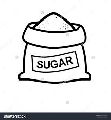 Sugar clipart black and white ClipartFest