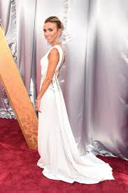 giuliana rancic floral white mermaid evening dress oscars 2016 red