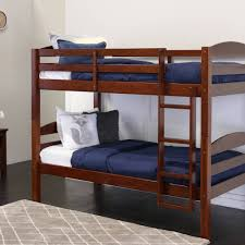 Bed Frames In Walmart by Walker Edison Twin Over Twin Wood Bunk Bed Multiple Colors