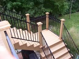 Horizontal Deck Railing Ideas by Great Deck Stair Railing How To Build Deck Stair Railing