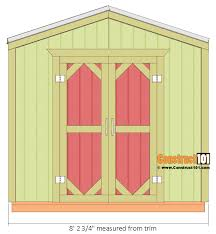 Free 8x8 Shed Plans Pdf by Garden Shed Plans 8x8 Step By Step Construct101