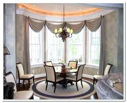 Dining Room Windows Curtains For Bay Window Area