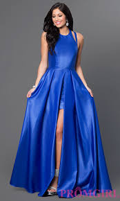 faviana high low open back prom dress promgirl