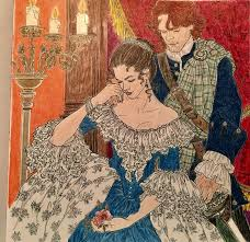 Claire And Jamie In France Sam HeughanColoring BooksOutlanderFan