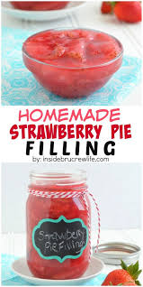 This homemade strawberry pie filling is easy to make on the stove top and has a